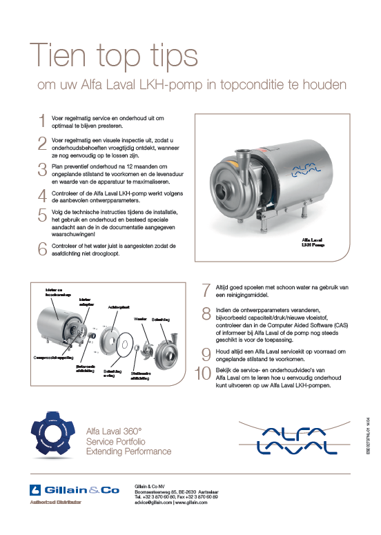 Gillain & Co - Alfa Laval lobbenpomp