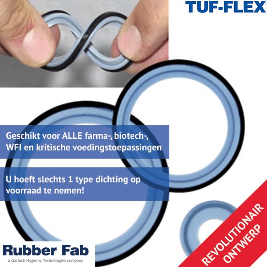RUBBER FAB TUF FLEX DICHTINGEN BIJ GILLAIN & CO