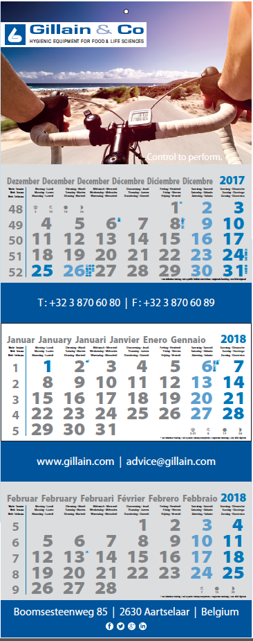 Gillain & Co kalender 2018